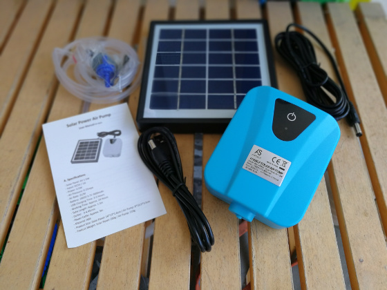 Anself Solar Power Air Pump